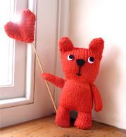 Red Teddy Bear Knitting Kit