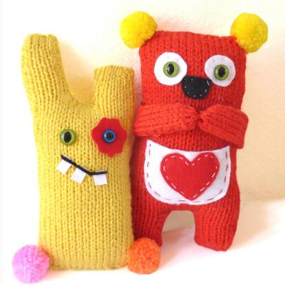 Shy Koala and Cheeky Monster Knitting Kits
