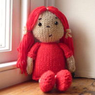 Personalised Dolly Knitting Kit in Red