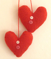 Red Button Hearts Knitting Kit