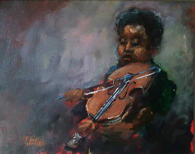 """Gifted:, 8x10, framed T. Ellis original painting, $2650.00"