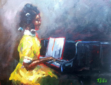 """Young and Talented"", 8x10, framed T. Ellis original painting.  $2650.00www.tellisfineart.com"