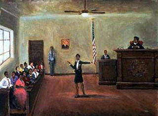 Equal Justice,Female lawyer,Black lawyer.African American Culture, Paintings, Ellis Art, Buy Art, Purchase
