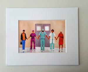 Prayers Heal mayted 8x10 mini-print