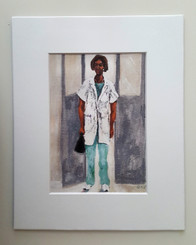 The Doctor has Arrived-matted 8x10 print