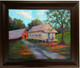 """""""My Old Home"""", is a beautifully framed hand embellished canvas replica measuring 22x28. This exquisite rendering depicts simple living out in the country. T. Ellis  captures another lifestyle moment. $1250.00"""