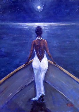 Moonlight Serenade, 20x16 framed T. Ellis  original painting www.tellisfineart.com $5500.00