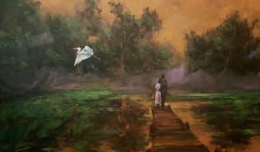 Bayou Paradise is a premium addition of only 10 hand embellished canvas replicas. Each one will have a unique element painted into it enhancing its beauty and value. It will be your own one of a kind. Bayou Paradise  size is 24x36 and beautifully framed. Price, $750.00