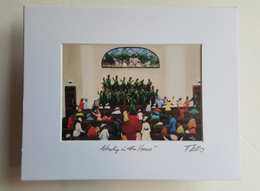 Worship in the House Matted 8x10 Print signed by T. Ellis