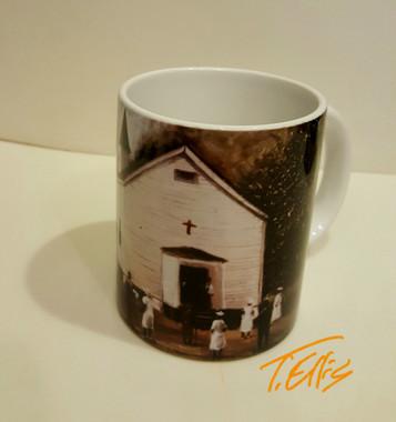 Sunday Worship T. Ellis collectible art mug $19.95