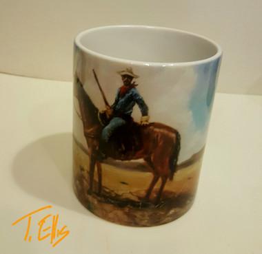 Buffalo Scout- T. Ellis collectible art mug $19.95