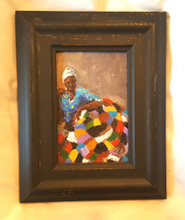 It Keeps Me Warm and Safe, 6x4 T. Ellis miniature original framed $850.00