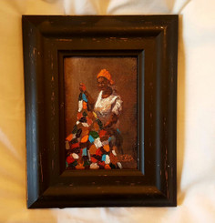 Mama's First Quilt, 6x4 T. Ellis miniature original framed $850.00