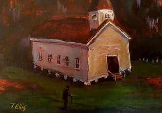Where We Save Souls, 5x7 T. Ellis miniature original framed $1500.00