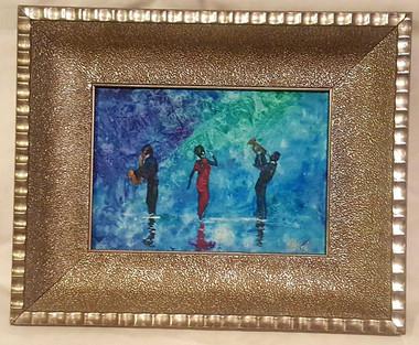 The Voice of a Diva, 5x7, T. Ellis miniature original framed $1500.00
