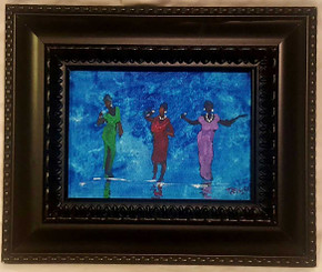 Three Divas 5x7, T. Ellis miniature original framed $1500.00