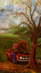 That Old Shadetree Mechanic- 36x24 T. Ellis original $15,000.00