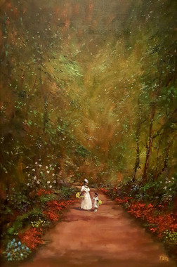 Our Daily Walk-36x24 T. Ellis original painting $15,000.00