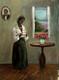 Awaitng My Loves Return-16x12 T. Ellis  original painting  $3650.00