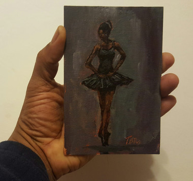 """It is What I Love"" T. Ellis 6x4 miniature original painting  $850.00"