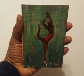 The Freedom to Dance - T. Ellis  6x4 miniature painting $850.00