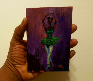 The Feeling of Dance-T. Ellis  6x4 miniature painting $850.00