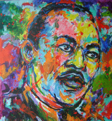 """MLK Jr.-The Sacrifice"" 24x24,T. Ellis hand-signed  print. $150.00 www.tellisfineart.com"