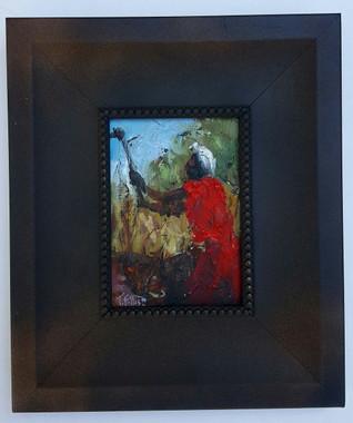 Chopping Cane-7x5 T. Ellis framed original painting. $1500.00