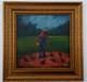 Feeding the Yard of Chickens Il-15x15 T. Ellis framed original painting. $3,450.00