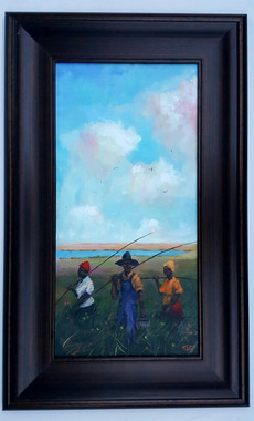 We Always Fishin-24x12 T. Ellis framed original painting  $4850.00