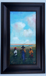 We Always Fishin-24x12 T. Ellis framed original painting  $4850.00