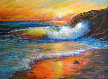 Where I Want To Be, a beautiful seascape painting by T. Ellis. Limited edition of only 250 prints, the size is 22x28 and printed on premium archival paper. Retail $325.00.