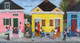 """""""My Block"""", artwork created by famous African-American artist, Ted T. Ellis. """"My Block"""" depicts the neighbor of Treme in New Orleans, LA. Treme is the oldest community of """"Free People of Color"""" in the United States. It is the birthplace of Jazz. A limited edition print of only 100 collectible 18x36 signed prints have been published on archival paper. Order yours today, $325.00."""