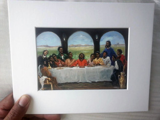 Last Supper, 8x10 matted mini-print, signed by T. Ellis, the artist. Special price of $10.00. Regular price $20.00