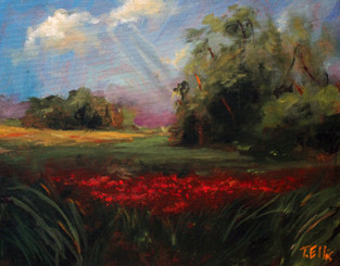 """""""Natural Beauty"""", is part of the T. Ellis Landscape Collection. The signed print measures 11x14 on acid free archival paper. These series of  landscapes paintings captures the natural beauty of southern wetlands, fields, marshes and bayous."""