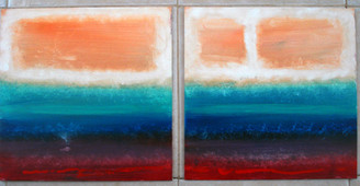 "-T. Ellis Art-A-Facts-  ''A Study of Rothko"", a diptych, two (16x16) paintings by Ted T. Ellis. Examines the methodology and execution of his Mark Rothkos' art. He is a famous American painter of Russian Jewish descent, his art form identifies with ""Abstract Expressionism"". Learn more, https://en.wikipedia.org/wiki/Mark_Rothko. If you are in Houston, TX visit the #Menil, you will see his large scale murals that are in their permanent collection.  www.tellisfineart.com"