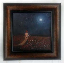 Working Under the Moonlight II, 16x16, T. Ellis framed original painting, completed in 2015, $3,70.00 www.tellisfineart.com