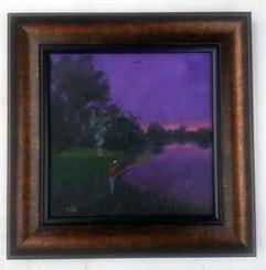 The Joy of Fishing, 16x16, T. Ellis framed original painting, 2015.  $3,750.00  www.tellisfineart.com