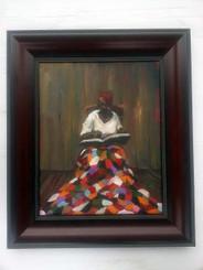 Reading the Good Book, 16x20, T. Ellis original framed painting, 2012, $4,750.00 www.tellisfineart.com