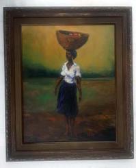 Woman with Basket, 20x16, T. Ellis original framed painting, 2014 $4,750.00 www.tellisfineart.com