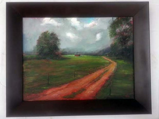 That Old Country Road, 18x24, T. Ellis original framed painting, 2014 $5,750.00 www.tellisfineart.com