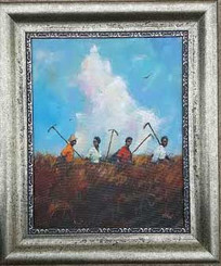 """Going to Work"",20x16, T. Ellis framed original painting value $4,750.00 http://www.tellisfineart.com/originals/"