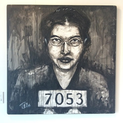 """Rosa Park, the First Lady of Civil Rights"" 24x24,T. Ellis hand-signed  print. $150.00 www.tellisfineart.com"