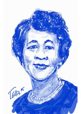 """Dorothy Height, 17x11 signed digital print archival paper by T. Ellis $30.00  Black History Month-Celebrating Black History Makers- (History, Art & Technology)  Dorothy Height was a civil rights and women's rights activist focused primarily on improving the circumstances of and opportunities for African-American women.   For Immediate Release Media Contact:Carolyn M. Thibodeaux, Children's & YA Librarian Port Arthur Public Library 4615 9th Ave Port Arthur, TX 77642 (409) 985-8838 ext.2237 Port Arthur Public Library Commemorates Black History Month through Art-STEM ( STEAM) Feb. 1-29, 2016 Port Arthur Texas - In commemoration of Black History month, The Port Arthur Library-PAPL is elated to exhibit the Art of leveraging Science Technology and History through Art and technology featuring a comprehensive collection of artwork from Ted Ellis featuring 29 Drawings of African Americans including biographies of 29 African Americans created with the use of Samsung technology on their Galaxy Note 5 mobile phone. This will be a first exhibit of its kind in the PAPLs History. The exhibit starts February 1 through Feb. 29, 2016 with a free opening reception scheduled Thursday February 11, 2016. Fueled by his passion for his family and his heritage; enabled by his artistic skill and commitment to excellence, Ted Ellis paints """"subjects that are representative of the many facets of American life, particularly, African-American culture and history"""" as he knows It. """"I like to think of myself as a creative historian. I was put here to record history…all aspects of American culture and heritage. My sole purpose has always been to educate through my art."""" With more than 30 years in the arts industry, Ted is not only a talented and creative artist he is fully capable of capturing the tone and significance of momentous events in a timely manner. Ted Ellis Fine Art is synonymous to the American experience, not just from the African American's perspective but from a cultural and iconic Ide"""