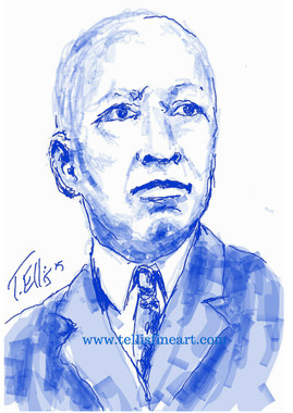 """Celebrating Black History: 17x11 signed digital archival print by T. Ellis $30.00 Carter G. Woodson was an African-American writer and historian known as the """"Father of Black History Month."""" He penned the influential book The Mis-Education of the Negro.  http://www.biography.com/people/carter-g-woodson-9536515 For Immediate Release Media Contact:Carolyn M. Thibodeaux, Children's & YA Librarian Port Arthur Public Library 4615 9th Ave Port Arthur, TX 77642 (409) 985-8838 ext.2237 Port Arthur Public Library Commemorates Black History Month through Art-STEM ( STEAM) Feb. 1-29, 2016 Port Arthur Texas - In commemoration of Black History month, The PAPL is elated to exhibit the Art of leveraging Science Technology and History through art and technology featuring a comprehensive collection of artwork from Ted Ellis featuring 29 Drawings of African Americans including biographies of 29 African Americans created with the use of Samsung technology on their Galaxy Note 5 mobile phone. This will be a first exhibit of its kind in the PAPLs History. The exhibit starts February 1 through Feb. 29, 2016 with a free opening reception scheduled Thursday February 11, 2016. Fueled by his passion for his family and his heritage; enabled by his artistic skill and commitment to excellence, Ted Ellis paints """"subjects that are representative of the many facets of American life, particularly, African-American culture and history"""" as he knows It. """"I like to think of myself as a creative historian. I was put here to record history…all aspects of American culture and heritage. My sole purpose has always been to educate through my art."""" With more than 30 years in the arts industry, Ted is not only a talented and creative artist he is fully capable of capturing the tone and significance of momentous events in a timely manner. Ted Ellis Fine Art is synonymous to the American experience, not just from the African American's perspective but from a cultural and iconic Ideal.Ellis recently presented """"Bl"""