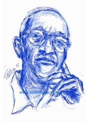 """John Hope Franklin, 17x11 signed digital print by T. Ellis $30.00 www.tellisfineart.com   Please Share...Learn about a brilliant scholar and Historian. He was one of the greatest!!! John Hope Franklin 