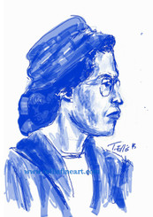 """Rosa Parks, 17x11 digital signed T. Ellis print $30.00 www.tellisfineart.com  In recognition of Black History Month Rosa Parks  Civil rights activist Rosa Parks refused to surrender her bus seat to a white passenger, spurring the Montgomery boycott and other efforts to end segregation.  http://www.biography.com/people/rosa-parks-9433715  https://www.youtube.com/watch?v=DeXUj8xOWtg  For Immediate Release Media Contact:Carolyn M. Thibodeaux, Children's & YA Librarian Port Arthur Public Library 4615 9th Ave Port Arthur, TX 77642 (409) 985-8838 ext.2237 Port Arthur Public Library Commemorates Black History Month through Art-STEM ( STEAM) Port Arthur Texas - In commemoration of Black History month, The PAPL is elated to exhibit the Art of leveraging Science Technology and History through art and technology featuring a comprehensive collection of artwork from Ted Ellis featuring 29 Drawings of African Americans including biographies of 29 African Americans created with the use of Samsung technology on their Galaxy Note 5 mobile phone. This will be a first exhibit of its kind in the PAPLs History. The exhibit starts February 1 through Feb. 29, 2016 with a free opening reception scheduled Thursday February 11, 2016. Fueled by his passion for his family and his heritage; enabled by his artistic skill and commitment to excellence, Ted Ellis paints """"subjects that are representative of the many facets of American life, particularly, African-American culture and history"""" as he knows It. """"I like to think of myself as a creative historian. I was put here to record history…all aspects of American culture and heritage. My sole purpose has always been to educate through my art."""" With more than 30 years in the arts industry. Ted is not only a talented and creative artist he is fully capable of capturing the tone and significance of momentous events in a timely manner. Ted Ellis Fine Art is synonymous to the American experience, not just from the African American's perspective but from"""