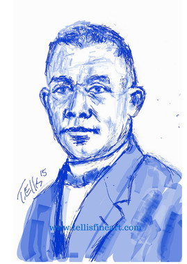 "Booker T. Washington, 17x11 digital signed T. Ellis $30.00 www.tellisfineart.com  ""If you want to lift yourself up, lift up someone else"". Booker T. Washington   In recognition of Black History Month 