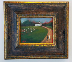 On Our Way to Church | T. Ellis original 8x10 painting $2,350.00 www.tellisfineart.com