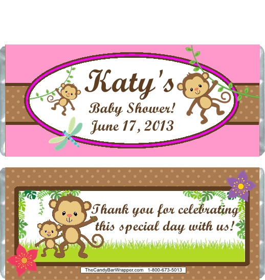 shower candy wrappers baby shower candy wrappers monkey baby shower